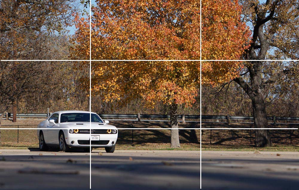 car photography composition rule of thirds