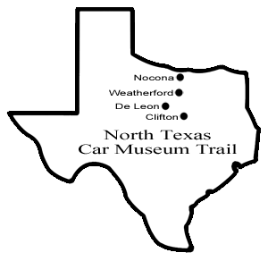 North Texas Car Museums map