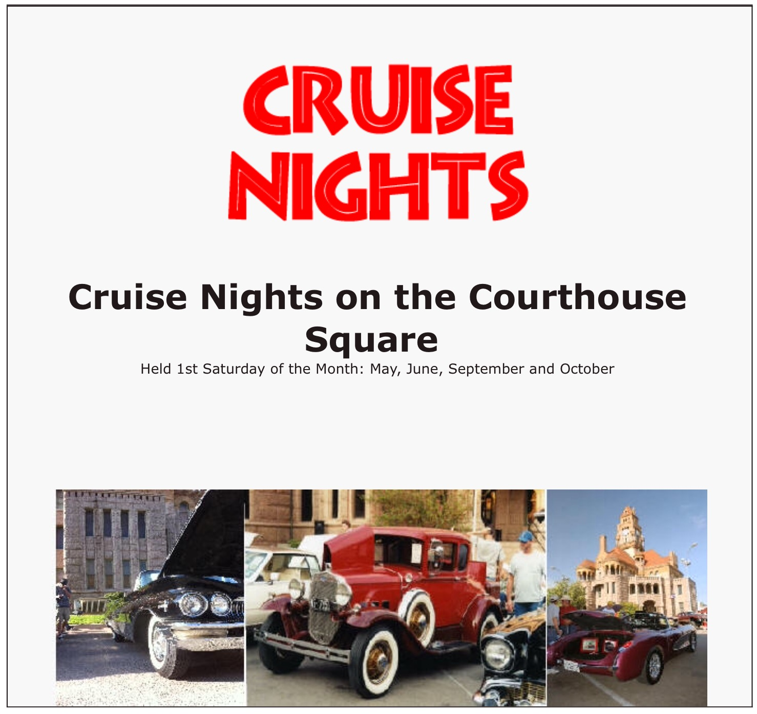 Cruise Nights on the Courthouse Square in Decatur TX